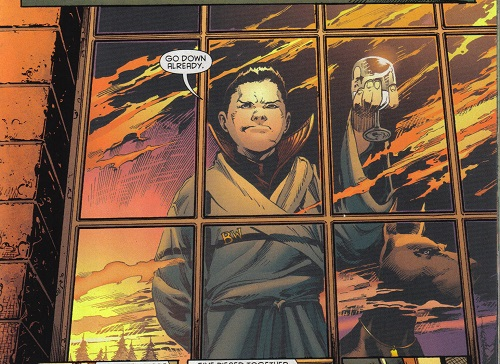 Batman and Robin Annual Damian Wayne window